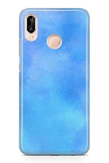 Lopard P20 Lite Kılıf Silikon Arka Kapak Koruyucu Mavi Hayaller Desenli Full HD Baskılı Renkli